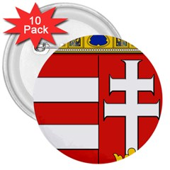 Medieval Coat Of Arms Of Hungary  3  Buttons (10 Pack)  by abbeyz71