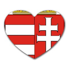 Medieval Coat Of Arms Of Hungary  Heart Mousepads by abbeyz71