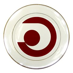 Flag of Kumamoto Prefecture Porcelain Plates by abbeyz71