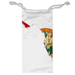 Flag Map Of Florida Jewelry Bags