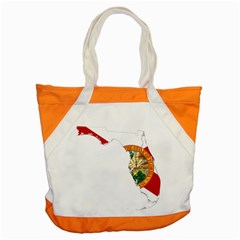 Flag Map Of Florida Accent Tote Bag