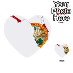 Flag Map Of Florida Multi Purpose Cards (heart)