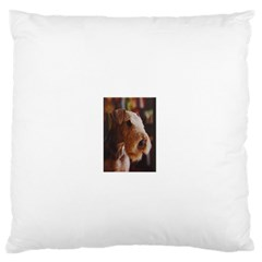 Airedale Terrier Standard Flano Cushion Case (One Side) by TailWags