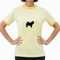 Pomsky Silo Women s Fitted Ringer T-Shirts by TailWags