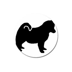 Pomsky Silo Magnet 3  (Round) by TailWags