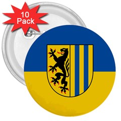 Flag Of Leipzig 3  Buttons (10 Pack)