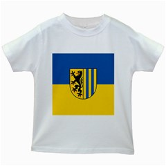 Flag Of Leipzig Kids White T Shirts