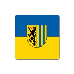 Flag Of Leipzig Square Magnet