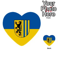 Flag Of Leipzig Multi Purpose Cards (heart)