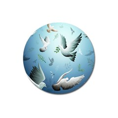 Animated Nature Wallpaper Animated Bird Magnet 3  (round) by AnjaniArt