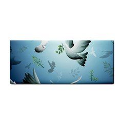 Animated Nature Wallpaper Animated Bird Hand Towel by AnjaniArt