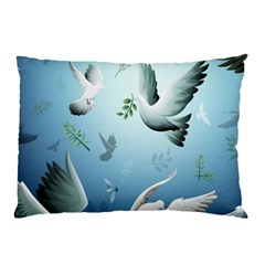 Animated Nature Wallpaper Animated Bird Pillow Case by AnjaniArt