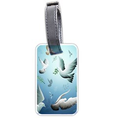 Animated Nature Wallpaper Animated Bird Luggage Tags (one Side)  by AnjaniArt
