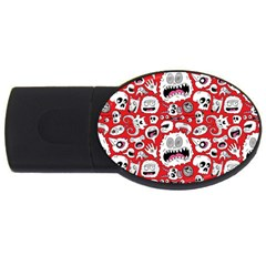 Another Monster Pattern USB Flash Drive Oval (1 GB)  by AnjaniArt
