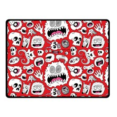 Another Monster Pattern Fleece Blanket (small) by AnjaniArt