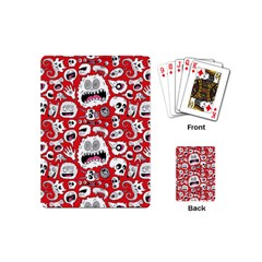 Another Monster Pattern Playing Cards (mini)  by AnjaniArt