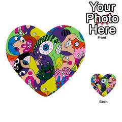 Another Weird Pattern Multi Purpose Cards (heart)
