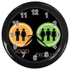 Bad Good Excellen Wall Clocks (black) by AnjaniArt