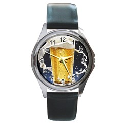 Beer 1 Round Metal Watch