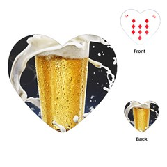 Beer 1 Playing Cards (Heart)  by AnjaniArt