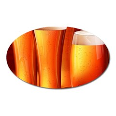 Beer Wallpaper Wide Oval Magnet