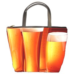 Beer Wallpaper Wide Bucket Bags by AnjaniArt