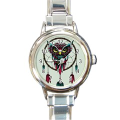 Bird Round Italian Charm Watch by AnjaniArt