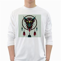 Bird White Long Sleeve T Shirts