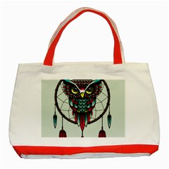 Bird Classic Tote Bag (red)