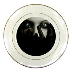 Black And White Porcelain Plates by AnjaniArt