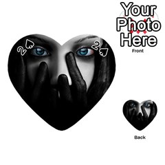 Black And White Playing Cards 54 (heart)  by AnjaniArt