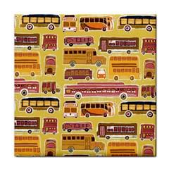 Bus Cartoons Logo Tile Coasters