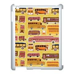 Bus Cartoons Logo Apple iPad 3/4 Case (White) by AnjaniArt
