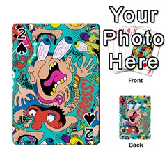 Cartoons Funny Face Patten Playing Cards 54 Designs  by AnjaniArt