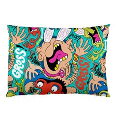 Cartoons Funny Face Patten Pillow Case by AnjaniArt