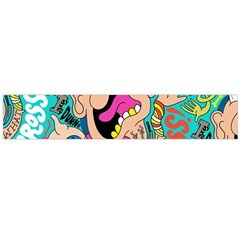 Cartoons Funny Face Patten Flano Scarf (large) by AnjaniArt