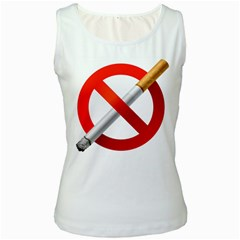 Cigarette Women s White Tank Top