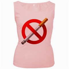 Cigarette Women s Pink Tank Top