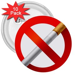 Cigarette 3  Buttons (10 Pack)