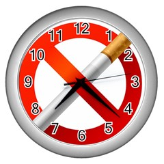 Cigarette Wall Clocks (silver)