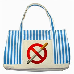 Cigarette Striped Blue Tote Bag