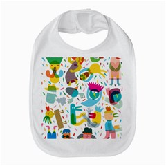 Colorful Cartoon Funny People Bib