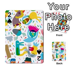 Colorful Cartoon Funny People Playing Cards 54 Designs  by AnjaniArt