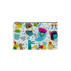 Colorful Cartoon Funny People Cosmetic Bag (small)  by AnjaniArt