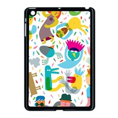 Colorful Cartoon Funny People Apple Ipad Mini Case (black) by AnjaniArt