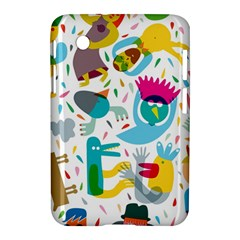 Colorful Cartoon Funny People Samsung Galaxy Tab 2 (7 ) P3100 Hardshell Case  by AnjaniArt