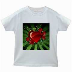 Cool Boy Wallpaper Kids White T Shirts by AnjaniArt