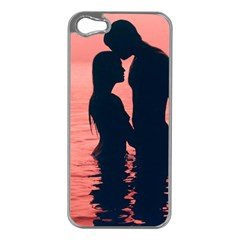 Couple In Love Beach Apple Iphone 5 Case (silver)
