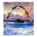 Dolphins: Format  Matching Set SHOWER CURTAIN - Shower Curtain 66  x 72  (Large)
