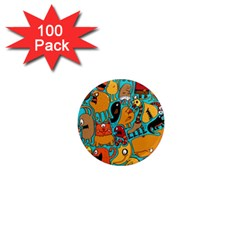Creature Cluster 1  Mini Magnets (100 Pack)  by AnjaniArt
